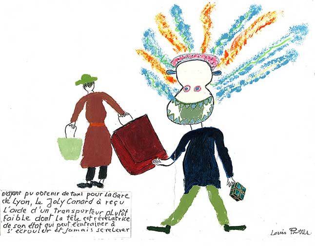 2007 - Louis Potter - dessins colorés - écriture - 30x25 cm