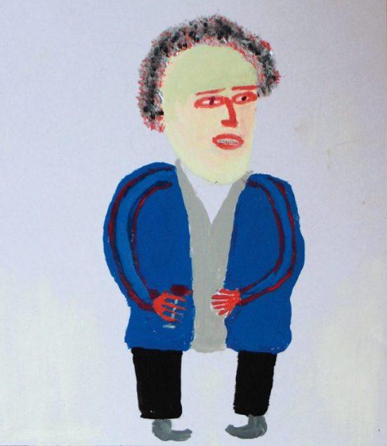 2007 - Sans titre - Peinture à l'eau sur carton - 18x18 cm