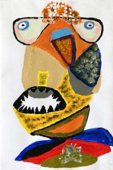 2005 - Sans titre - Peinture à l'eau sur papier - 32x20 cm